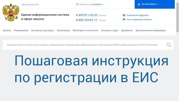 регистрация в ЕИС, фото